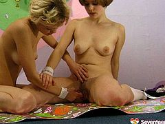 Kinky Russian teens have got fresh bodies though hairy ugly pussies. Watch them playing with their pussies in a dirty teen lesbian porn clip presented free by Seventeen Video.