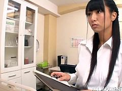 Mako Higashio has been a naughty Japanese girl so she will be forced to lick feet and suck cock before getting her twat banged.