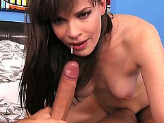 Dana DeArmond sucks big stiff dick of Keiran Lee like a tasty candy bringing tons of delight to the lucky man. She waits until the tool becomes hard before giving rodeo on it.