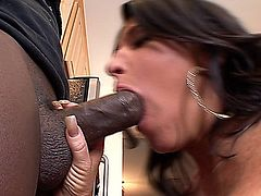 Hottie Kendra Secrets Sucks And Fucks Enormous Black Cock at home.