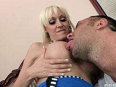 blonde milf gets drilled on bed