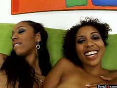 Slutty black girls Krystal Wett and Misty Stone are fucking passionately in a hardcore lesbian sex video. They poke one another with big sex toy. Check this out, it worth watching.