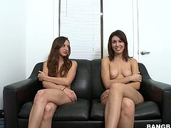 Have a look at this hardcore video where these two naughty teen Latinas have a threesome with a large cock as part of their interview.