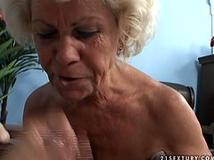 This feisty granny is never enough of sex. She is still sexually charged woman despite the age. Watch her getting nailed hard missionary style and later riding actively in cowgirl position. POV