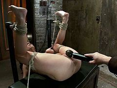 There's some pretty extreme bondage action in this video with Tessa Taylor, that also includes some torture and toying action.