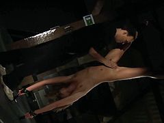 Nataly Von gets whipped softly and spanked a little. Then she gets fucked while bonded and without restrains. She eats cum.