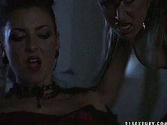 Two sextractive porn actress are playing role plays. Kinky beast girl makes beautiful babe suck her nipples and finger fuck her wet insatiable slit.