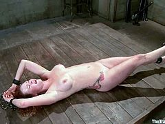 Audrey Hollander gets tortured and mouth fucked in cool BDSM clip