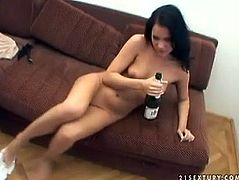 Amateur girlfriend enjoys pee shower and sucks dick of her boyfriend. She is drunk and you can be sure that she'll satisfy all your dirty desires.