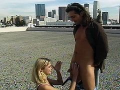 Briana Banks is this blonde babe with a nice tattoo and an anal love that's beyond this world. She specializes in doing ass to mouth, as she gets her asshole fucked cowgirl and doggy-style by a big cock.