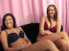 Hot tempered lesbian babes are ready to turn all your dirty dreams into reality. They show off their big juicy boobs and wag adorable big asses in front of you. Enjoy hot video.