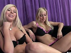 Two pairs of jaw dropping boobs are waiting for you in these exciting sex tube scene produced by Pornstar site. Two adorable blondes show off theirs boobs and tease you. Enjoy them for free.