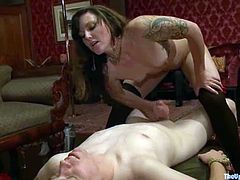 This scene takes place in some aristocratic house with some aristocrats that loves going dirty! This amazing scene is about some BDSM and fetish desires!