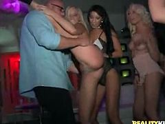 Naughty dancing and nipple licking at party