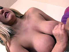 Appetizing blonde jerks off dick like nobody else. She massages it and her juicy massive boobs. Watch extremely hot tug ob porn tube video for right now.