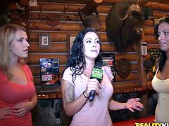 Heard about a rodeo sex machine? Well here at Money Talks we had a better idea! For the right amount of cash these sluts agreed to ride a mechanical bull with a dildo under their ass. That's the real thing and these bitches are not only getting cash, they get some sexual satisfaction too!