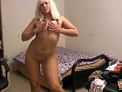 Big ass milf is eager to play nasty and pose her nude body to the cam
