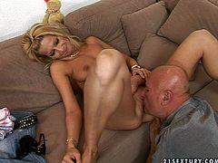 Sex-starved blonde has no money to pay for her taxi so she has to work something out with the driver like sucking his cock. Lustful blonde gives him a great blowjob. Since that dick is already hard she jumps on top of it and rides it hard pushing him to the edge of powerful orgasm.