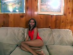 Naive looking skinny black chic gets naked in front of cam before she starts fingering her tight pussy. Later a horny wanker joins her to tongue fuck soaking cunt and later poke it doggy in steamy sex video by Pornstar.
