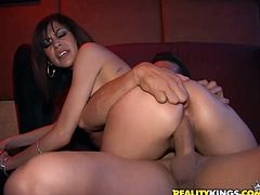 Dude fucks a sexy brunette babe in this dirty hardcore fucking scene right here, hit play and check it out! It's arousing as fuck!