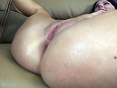 Sophie Dee can't shakes her big ass, but this guy makes sure her ass cheeks bounce on his cock when he's fucking her bald pussy. She tastes her juices off his cock.