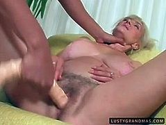 Gosh, this fatso is too old and too ugly. All wrinkled whore with droopy tits and big cellulitis ass is fond of missionary fuck. Then dirty old slut kneels down to give a solid blowjob for sperm. If you're a fan of lewd old nymphos, this 21 Sextury xxx clip is surely for you.