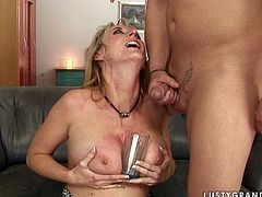 Salacious blonde in sexy white stockings can handle two horny men at once. While one dude drills her loose butthole in missionary positon spoiled nympho starts sucking the other dick greedily for juicy sperm. Then she gets her anus fucked hard in doggy position. Check out this wild sex video now and I'm kinda sure you will enjoy watching it.