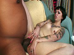See how a wild tattooed slut rides a thick black cock in this naughty interracial video. Her cunt is ready to explode today and nothing can stop her once she starts fucking!