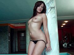 Sweet gal loves her wet pussy when being finger fucked by her soft fingers
