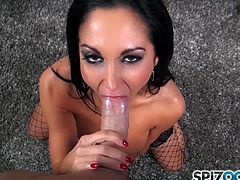 Wonderful Ava Addams looks amazing when deep sucking cock in POV blowjob action