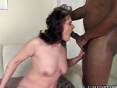 Insatiable whore wife gets her mouth hole drilled hard. BBC penetrates deep her throat. Watch exciting interracial sex video produced by 21 Sextury porn site.
