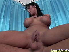 Two filthy brunette MILFs are really furious when it comes to threesome sex. They hope on kinky dude cowgirl and reverse cowgirl styles with their stretched pussies.