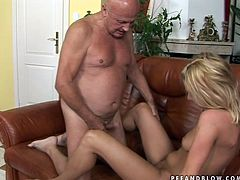 Mind taking blond prostitute lies on her back while a rapacious bald dad fucks her missionary style. Later she clings to his penis to suck it zealously.