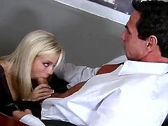 Sexy Blonde Secretary has eaten And banged
