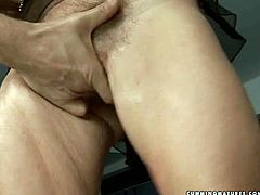 This mature woman with a nice set of big tits is well aware of the powerful orgasms the sybian machine produces. She rides it passionately like she is a cowgirl on a bucking bronco.