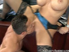Voluptuous boss Dylan Ryder is horny cougar who seduced young stud Pike Nelson in the office. She sucked his dick like real professional. Then she sat on the table spreading her legs wide. Pike got the hint right away and stuck his tongue to the throbbing vagina of Dylan Ryder. Steamy Nauhgty America porn clip.