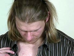 This hunky biker with long hair fucks a man's ass hole for the first time. He tastes his cock a bit too.