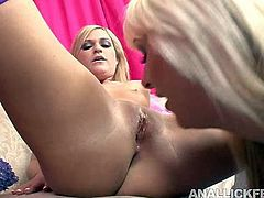 Mature blond whore teaches a young naive chic the basics of group sex. She forces her ride a horny dude in cowgirl style before she gets anal fucked in doggy and later in reverse cowgirl pose.
