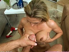 Look at this slender and desirable siren Roxanne Hall! She is so naughty and the way she polishes a huge cock is pretty incredible! Damn!