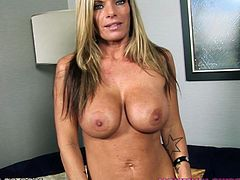 This juicy and kinky milf Krystal Summers is still charged with a desire to be jerked off on! Honey is such a naughty cock sucker!