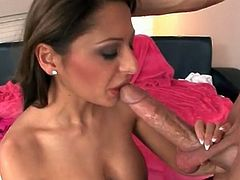 Huge dick sucked by slutty Alison Star