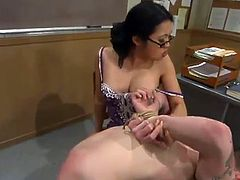 Richie Rennt gets tied up and humiliated by his female teacher