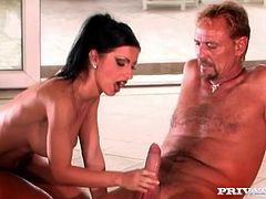Two sexy brunettes Nikky Rider and Tera Bond are having some good time together. They play with each other's tits and pussies and then fuck the dude in cowgirl position by turns.