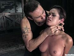 Well of course one time blowjob is what Steven needed. So he shuts her mouth with a ball gag and then Daisy Marie gets inflicted to some abuse!