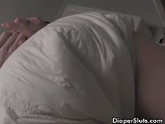 See the kinky blonde diaper slut Natalia getting handcuffed and spanked for pissing her diaper in this spectacular vid.