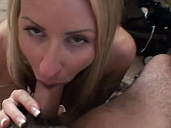 Don't skip this exciting amateur sex video of one charming blonde pornstar Carolyn Reese. She stands on her knees and plays with dick like nobody else.