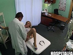 Blonde babe getting licked and fucked by her doctor