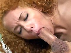 Cheep looking curly blonde sexy Chloe Star with long legs and tight asses gets drilled balls deep by John Strong and sucks his stiff cannon like there is no tomorrow.
