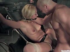 Juicy blondie gets hogtied and suspended for BSDSM rapture