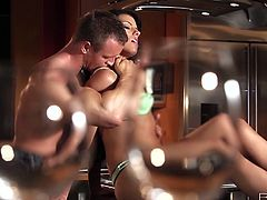 Adriana Chechik passionate couple sex in the kitchen